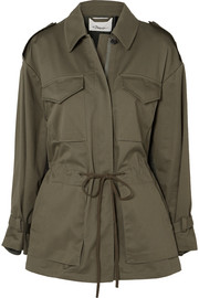 3.1 Phillip Lim Cotton-blend canvas and knitted jacket