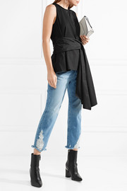 3.1 Phillip Lim Wrap-effect cotton-jersey and poplin top
