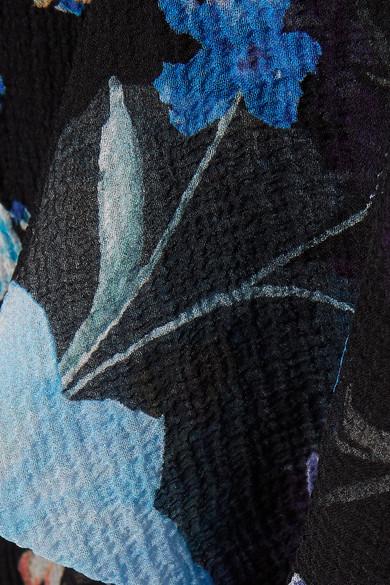 3.1 Phillip Lim Oberteil aus Baumwoll-Jersey und floral bedrucktem Seidenchiffon in Knitteroptik