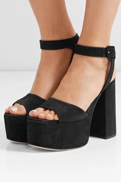 Miu Miu Suede Platform, Sandals