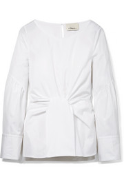 3.1 Phillip Lim Tie-front cotton-poplin top