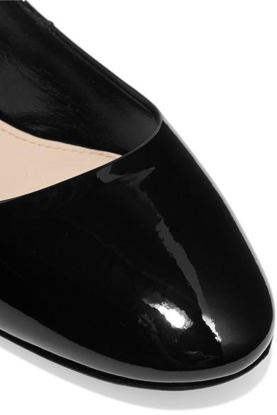 Miu Miu   Kristallverzierung Ballerinas aus Lackleder mit Kristallverzierung   da3892