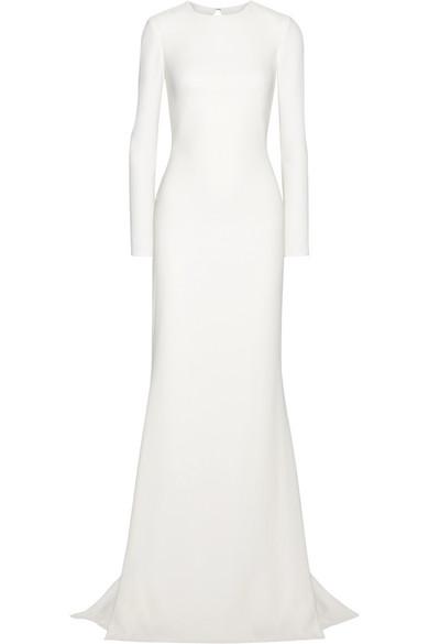Open-back Stretch-crepe Gown - Ivory Oscar De La Renta Outlet Recommend Discount Get Authentic Shop Sale Online jKr1ike4x