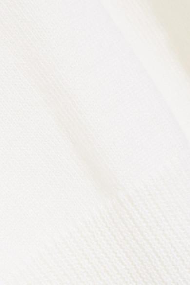 Oscar de la Renta Wollpullover mit Tülleinsätzen und Cut-outs