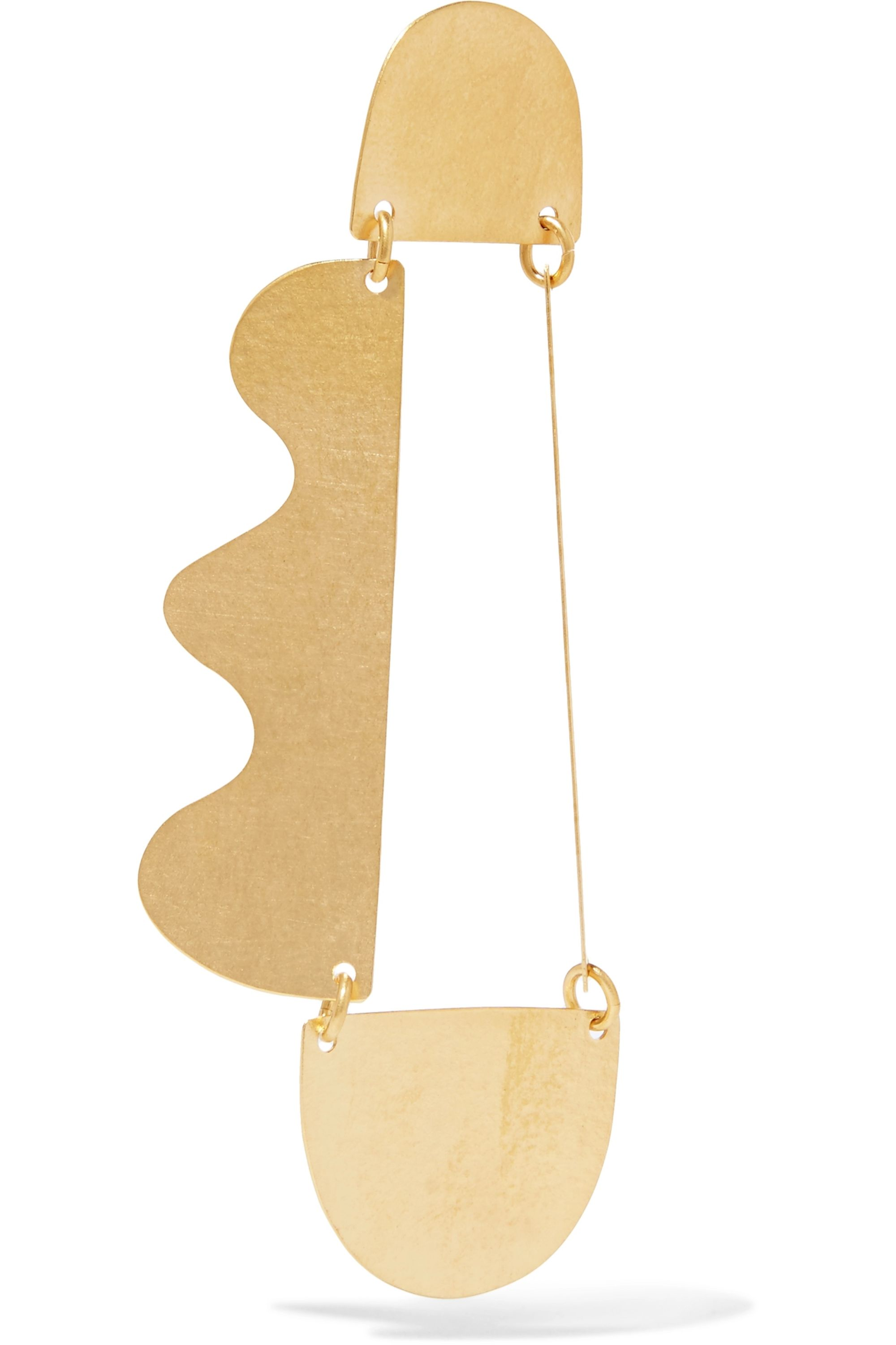 Annie Costello Brown Matisse gold-tone earrings