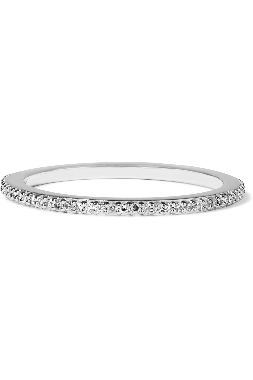 Monica Vinader Skinny sterling silver diamond ring