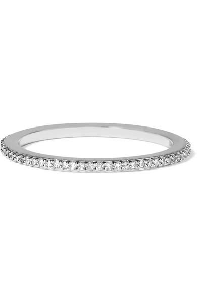 Monica Vinader Skinny Sterling Silver Diamond Ring p2IAFld