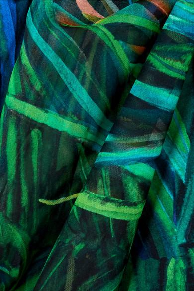 Elie Saab Bedruckte Jacke aus Georgette aus einer Seidenmischung