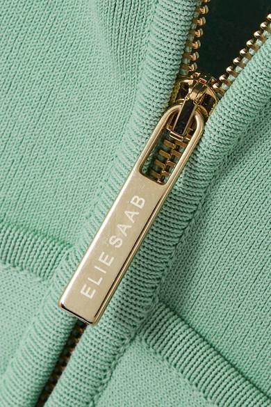 Bilder Elie Saab Minikleid aus Stretch-Strick mit Tülleinsatz und Applikationen Genießen Online-Verkauf Steckdose Modische vBiPrBkb