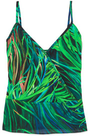 Printed silk-georgette camisole