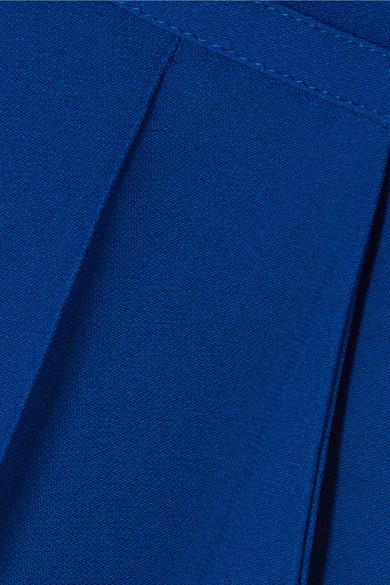 Elie Saab Jumpsuit aus Stretch-Crêpe mit Spitzenbesatz und Volants