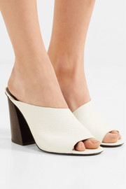 Izar textured-leather mules