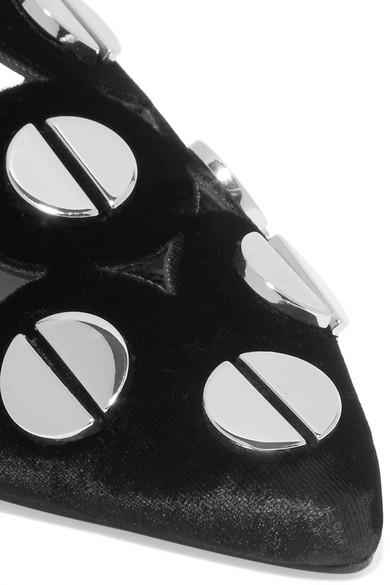 Mercedes Castillo Kris Slippers aus Samt mit Nieten Online Günstiger Preis Günstige Online Günstig Kaufen Footlocker 7hZl9UlT