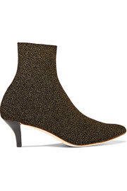 Kassidy glittered stretch-knit sock boots