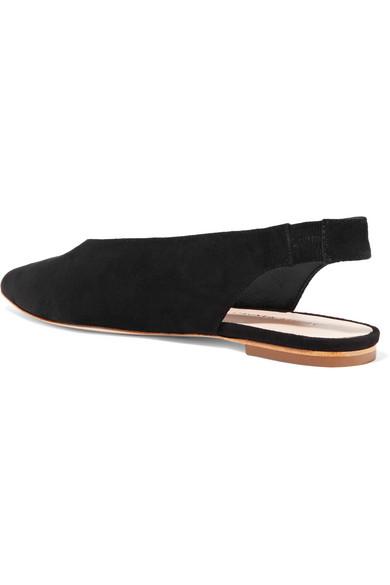 Loeffler Randall Eve flache Slingback-Schuhe aus Veloursleder