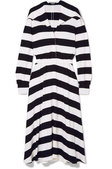 Striped Stretch-jersey Midi Dress - Black CALVIN KLEIN 205W39NYC Sale New Cheap Sale Original Manchester Great Sale For Sale Best Place To Buy Visa Payment Sale Online GNmj5