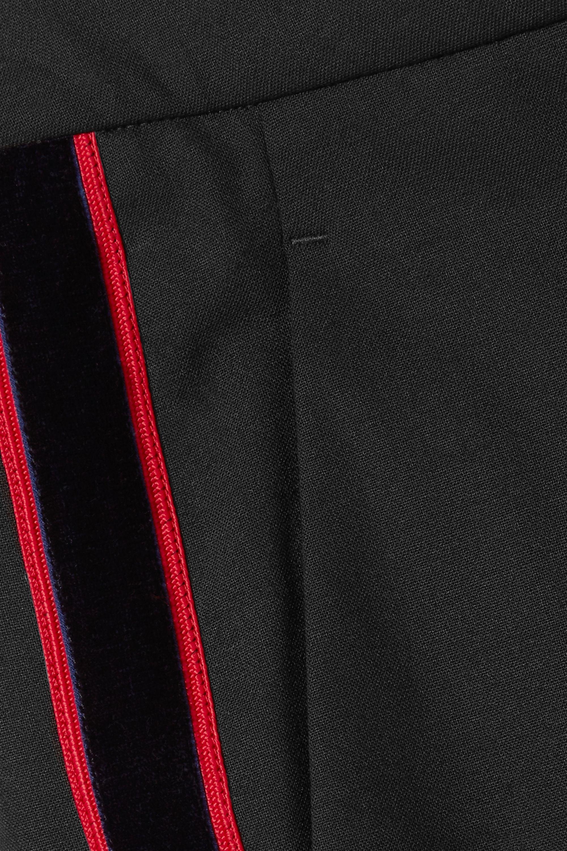 CALVIN KLEIN 205W39NYC Striped wool-blend straight-leg pants