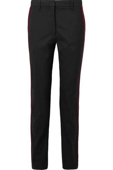 Striped Wool-blend Straight-leg Pants - Black CALVIN KLEIN 205W39NYC BtR7K