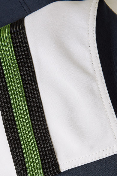 CALVIN KLEIN 205W39NYC Midikleid aus Twill aus einer Baumwoll-Seidenmischung mit Ripsbandbesatz Beste Rabattpreise Günstig Kaufen Ebay Verkauf Wiki igPV4eD