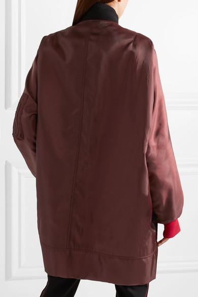 CALVIN KLEIN 205W39NYC Oversized-Bomberjacke aus glänzendem Twill Gut Verkaufen Verkauf Online 3eFL4A