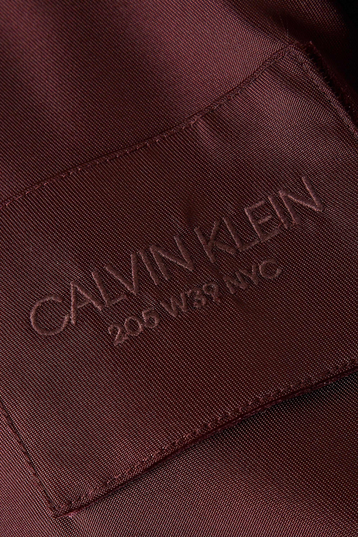 CALVIN KLEIN 205W39NYC Oversized satin-twill bomber jacket