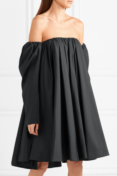 Off-the-shoulder Ruffled Shell Dress - Black CALVIN KLEIN 205W39NYC vJeC3
