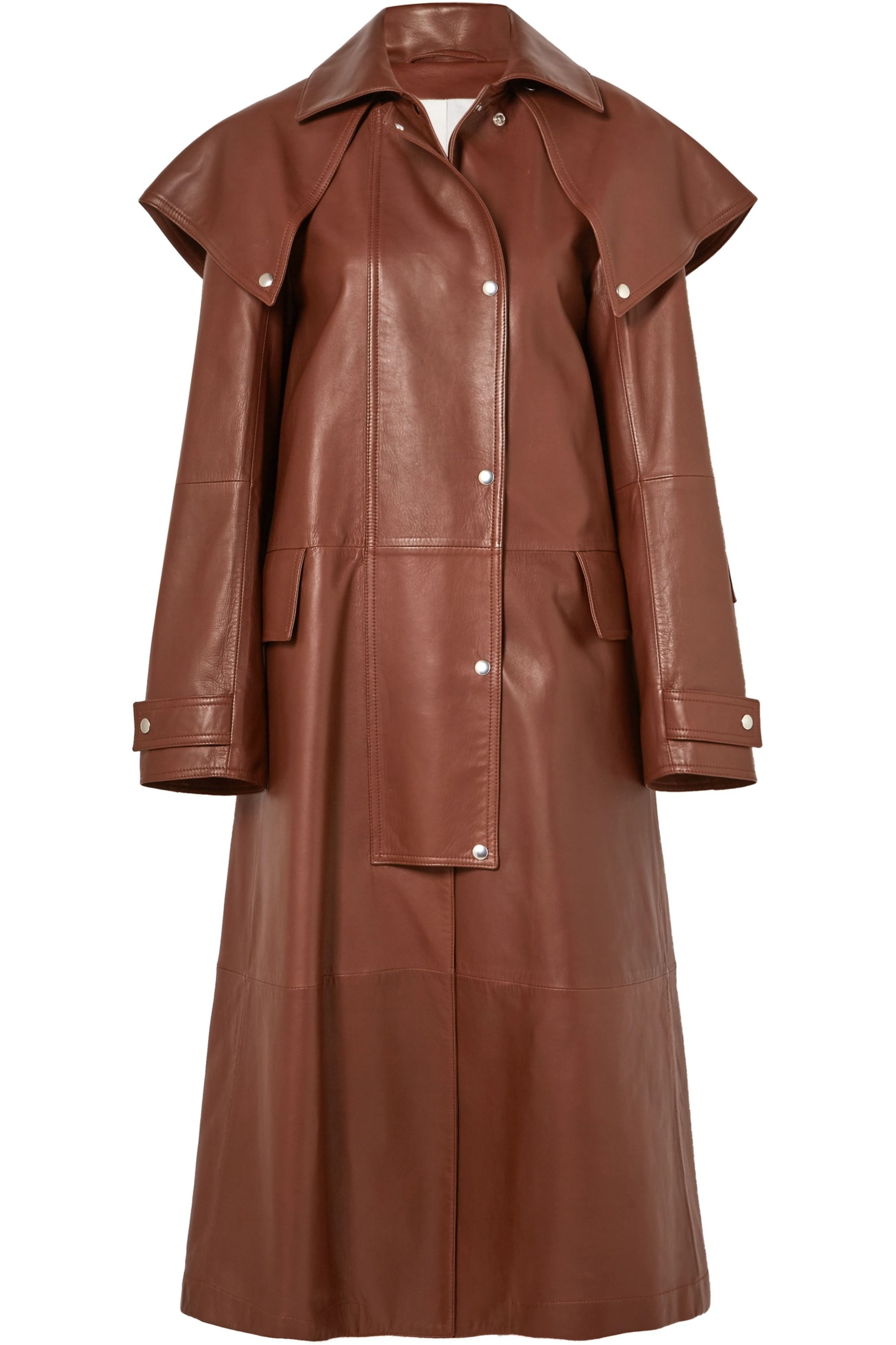 CALVIN KLEIN 205W39NYC Leather trench coat