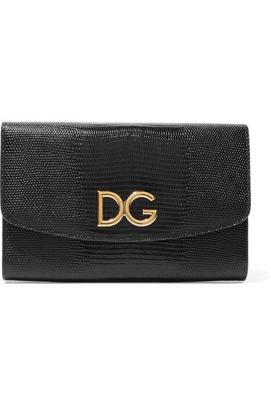 Dolce & Gabbana Schultertasche aus Leder mit Eidechseneffekt