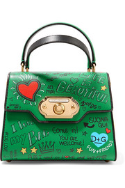 Dolce & Gabbana Welcome small printed leather tote