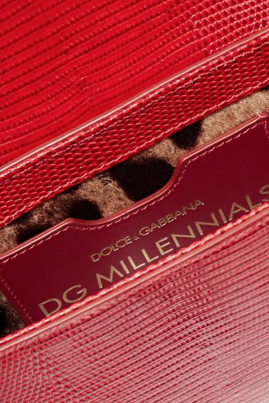 Schultertasche Eidechseneffekt aus amp; Dolce Gabbana Millennials verzierte Leder mit 6gnBqO