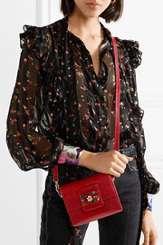 Millennials embellished  lizard-effect leather shoulder bag