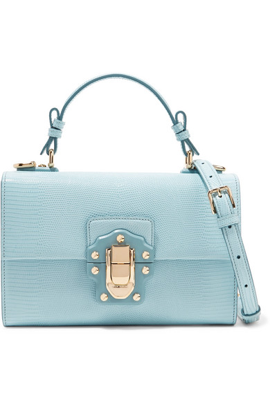 d1b37aad6d Dolce   Gabbana Lucia Lizard-Effect Leather Shoulder Bag In Sky Blue ...