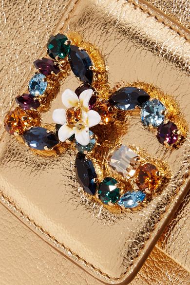 2018 Unisex Zum Verkauf Rabatt-Shop Für Dolce & Gabbana Millennials verzierte Schultertasche aus strukturiertem Metallic-Leder Günstige Online fCZIoUP2RK