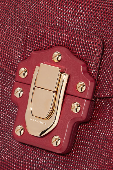 Dolce & Gabbana Lucia Schultertasche aus Leder mit Eidechseneffekt