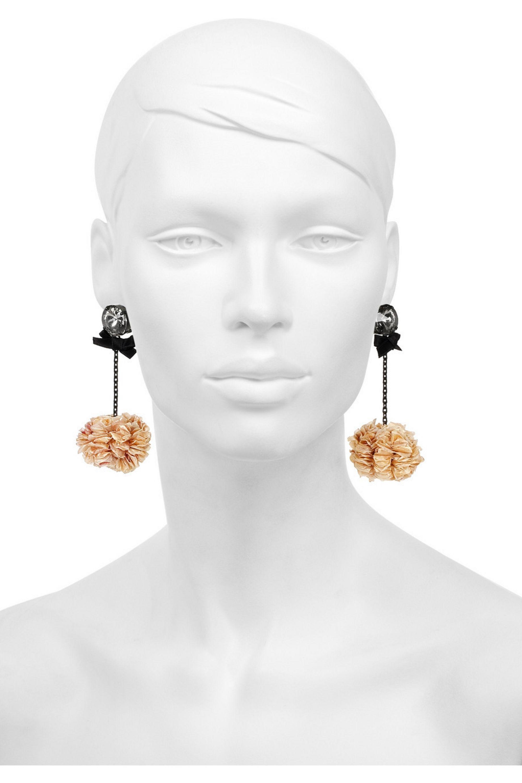 Marni Petal and Swarovski crystal embellished earrings
