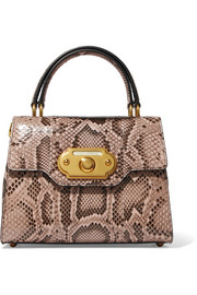 Dolce & Gabbana Welcome small python tote