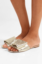 Igad metallic leather slides