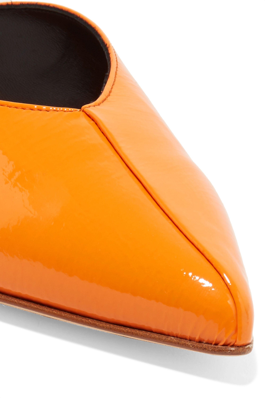 Tibi Frank patent-leather mules
