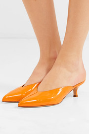Frank patent-leather mules