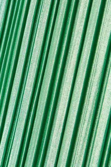Tibi Midikleid aus plissiertem Satin Verkauf Größten Lieferanten Besuch Günstig Kaufen Große Überraschung Spielraum Bester Verkauf Orange 100% Original z4cVP