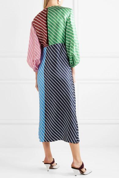 Delphina striped silk dress Tibi hb3Xg