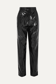 Tibi Vinyl tapered pants