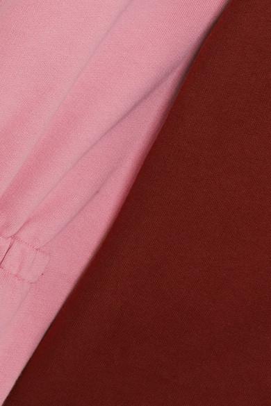 Große Diskont Günstig Online Tibi Zweifarbiges Kapuzenoberteil aus Baumwoll-Jersey Geringster Preis Preiswerte Neue L0nkJnR1