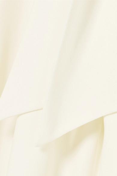Halston Heritage Ausgestellter Jumpsuit aus Crêpe mit Wickeleffekt
