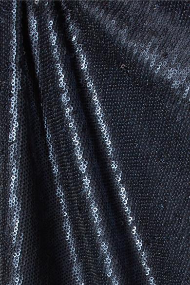 Halston Heritage Robe aus paillettenbesetztem Jersey mit Cut-out