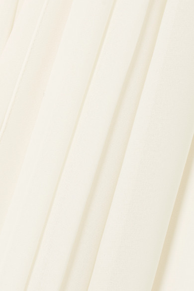 Halston Heritage Fortuny Minikleid aus plissiertem Chiffon