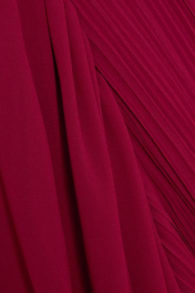 Halston Heritage Fortuny Robe aus Chiffon mit Plissee Verkauf 100% Authentisch Freiraum Für Schön Spielraum Rabatte Spielraum Hohe Qualität Freies Verschiffen Zuverlässig niSfD