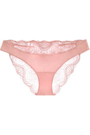 Elements corded lace and stretch-jersey briefs