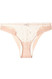 Quartz Garden stretch-jersey, Leavers lace and tulle briefs
