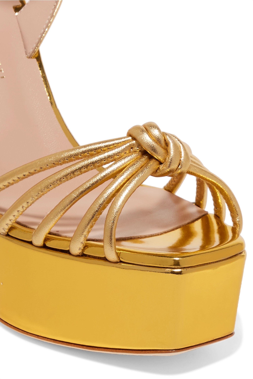 Giuseppe Zanotti Lavinia metallic leather platform sandals